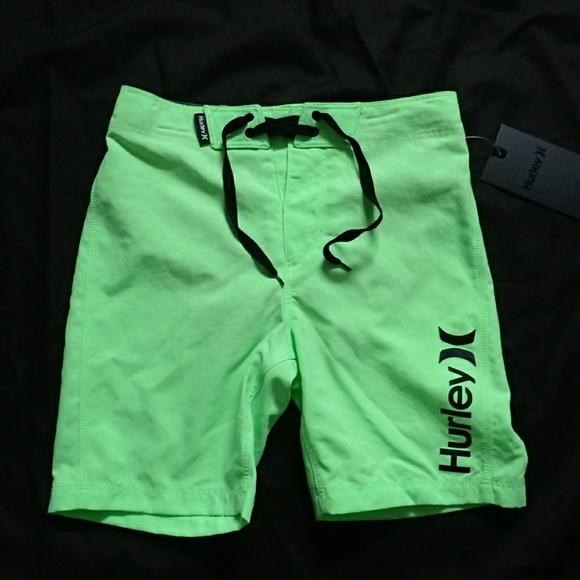 327ea3ae6a Hurley Swim | Neon Green Boys Shorts 56 Years | Poshmark